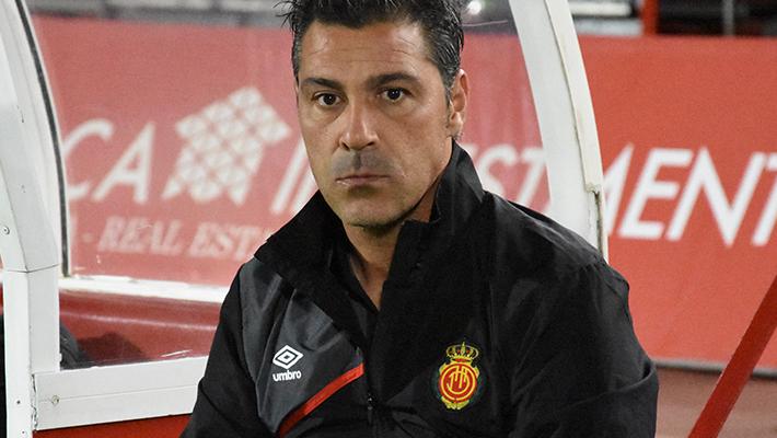 Olaizola en la previa del partido ante el Mirandés- Foto: Fútbol Balear.