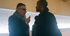 Molango en una entrevista concedida a Tomeu Terrasa. Foto: Alejandro Jurado.