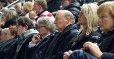 Köhlberg en el palco de Son Moix durante el partido ante el Rayo. Foto: RCDM.