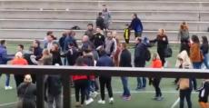 Pelea tumultuaria en un partido de fútbol base en Valencia.