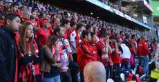 Mallorquinistas desplazados a San Mamés (2013). Foto: Futbol Balear.