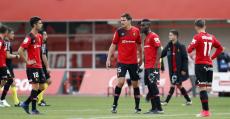 Los futbolistas del Mallorca terminaron abatidos tras un nuevo tropiezo. Foto: LFP.