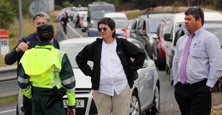 Conductores molestos piden explicaciones a las autoridades por los atascos provocados por la Mallorca 312 de 2016. Foto: Diario de Mallorca.