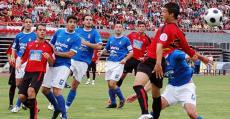 Lance del partido de vuelta de la eliminatoria entre el Mallorca B y el Oviedo en Son Moix (08/09). Foto: Fútbol Balear.