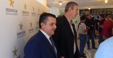 Vázquez y Boscana en la presentación del Iberostar Palma. Foto: TTdeporte.com.