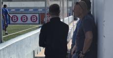 Messow y Volckmann siguiendo el entrenamiento en Son Malferit. Foto: ATB.
