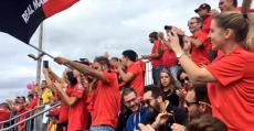 El Malloca estuvo arropado por casi 500 aficionados en las gradas del Municipal de Sant Francesc. Foto: RCDM.