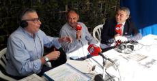 Virgilio Moreno en el stand de Radio MARCA Baleares en el Dijous Bo de Inca. Foto: TTeporte.com.