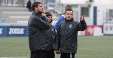 Horacio Melgarejo junto a su staff técnico en su primer entrenamiento. Foto: GuiemSports.