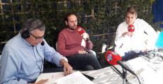 Mateu Ferrer participando en el especial de Radio MARCA en el Dijous Bo junto a Guillem Llaneras. Foto: TTdeporte.com.