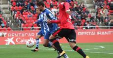 El Sabadell logró ser el primer equipo que se va de Son Moix sin haber encajado esta temporada. Foto: CES.