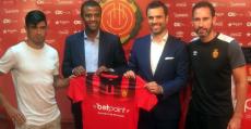 Presentación del acuerdo de patrocinio de la camiseta del RCD Mallorca con BetPoint. Foto: @GoBetPoint.