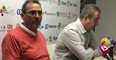 Sastre y Boscana afectados durante la rueda de prensa para comunicar su dimisión. Foto: TTdeporte.com.