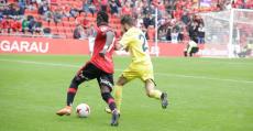 Lago Junior reapareció tres meses después a los terrenos de juego ante el Villarreal B. Foto: RCDM.