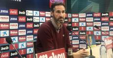 Vicente Moreno se mostraba satisfecho en la sala de prensa de Villarreal. Foto: RCDM.