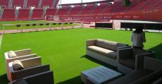 El espacio VIP a pie de campo contrará con sofás y mesas para departir durante la previa, descanso y post partido. Foto: RCDM.