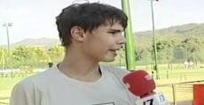 Nadal durante una entrevista con la televisión local de Vigo en 2002. Foto: YouTube.