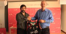 Boscana en la firma del acuerdo de patrocinio con Iberojet. Foto: BSA.