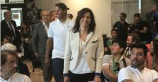 Mª José Rienda (CSD), Rafel Nadal y Miguel Díaz (RFET) en la presentación del RNO. Foto: TTdeporte.