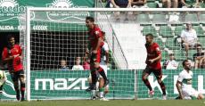 Abdón celebrando su segundo gol de la temporada. Foto: LaLiga.