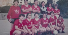 Formación del SD Joventut Bunyola, entre 1985 y 1988. Foto: archivo Francisca Orell Salom.