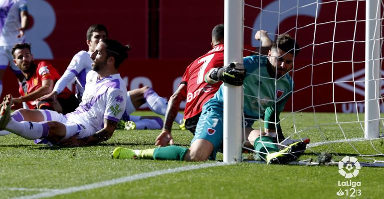 Aridai en su gol frente al Numancia en Son Moix. Foto: LaLiga.