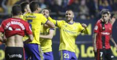Ander celebra el tanto del empate ante el Mallorca. Foto: LaLiga.