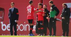 Suárez entrando al campo por Stoichkov frente al Alcorcón. Foto: RCDM.