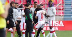 Sevilla celebra efusivamente el tanto del empate. Foto: LaLiga.
