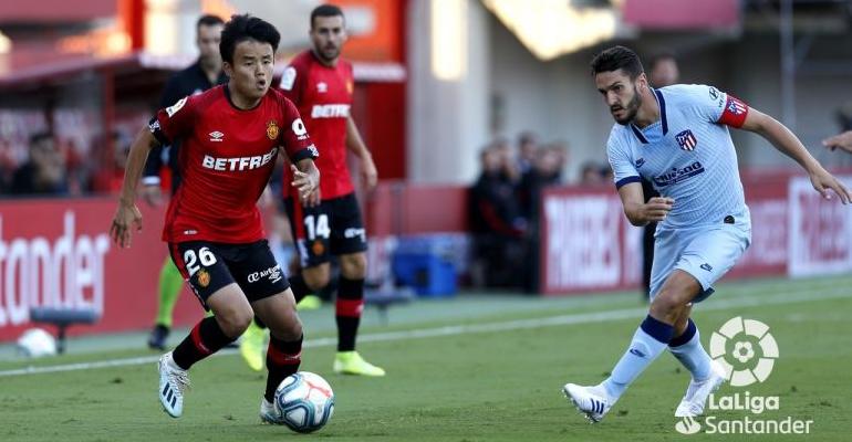 Kubo fue el más destacado del partido por parte del Mallorca. Foto: LaLiga.