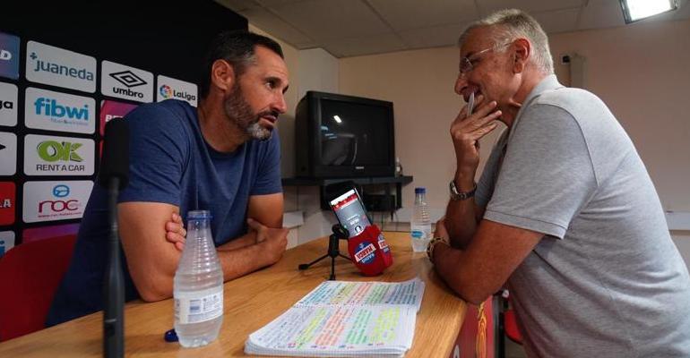 Moreno durante la entrevista en Son Bibiloni. Foto: RCDM.
