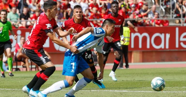 Lace del partido Mallorca-Espanyol en Son Moix. Foto: LaLiga.