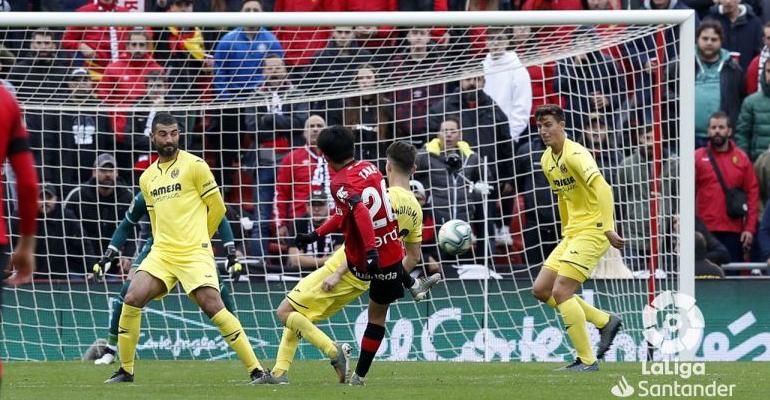 Kubo en la acción del tercer gol ante el Villarreal. Foto: LaLiga.