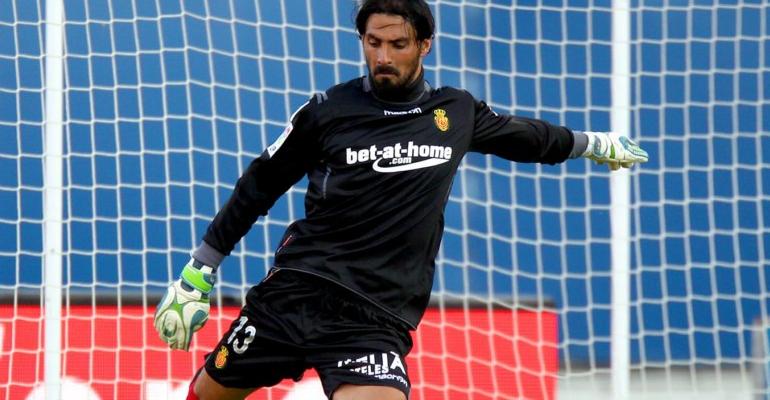 Aouate vistiendo la camiseta del Mallorca. Foto: FútbolBalear.